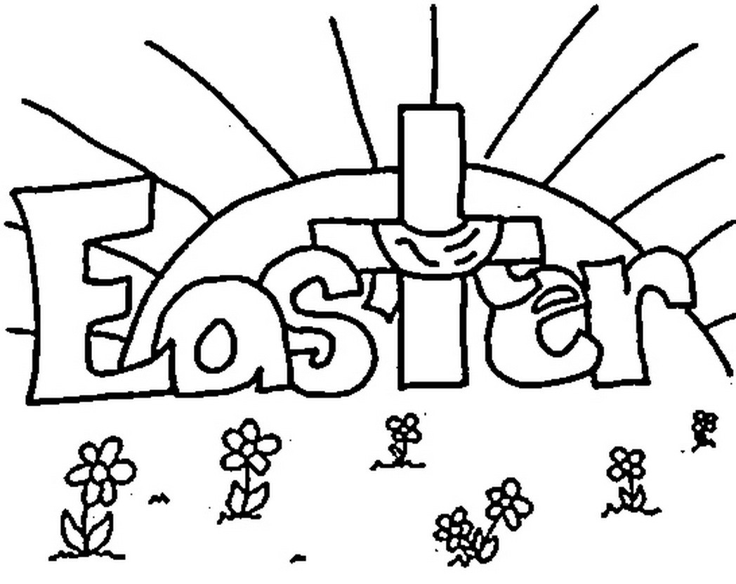 1048x831 Easter Cross Coloring Pages Printable Hd Images