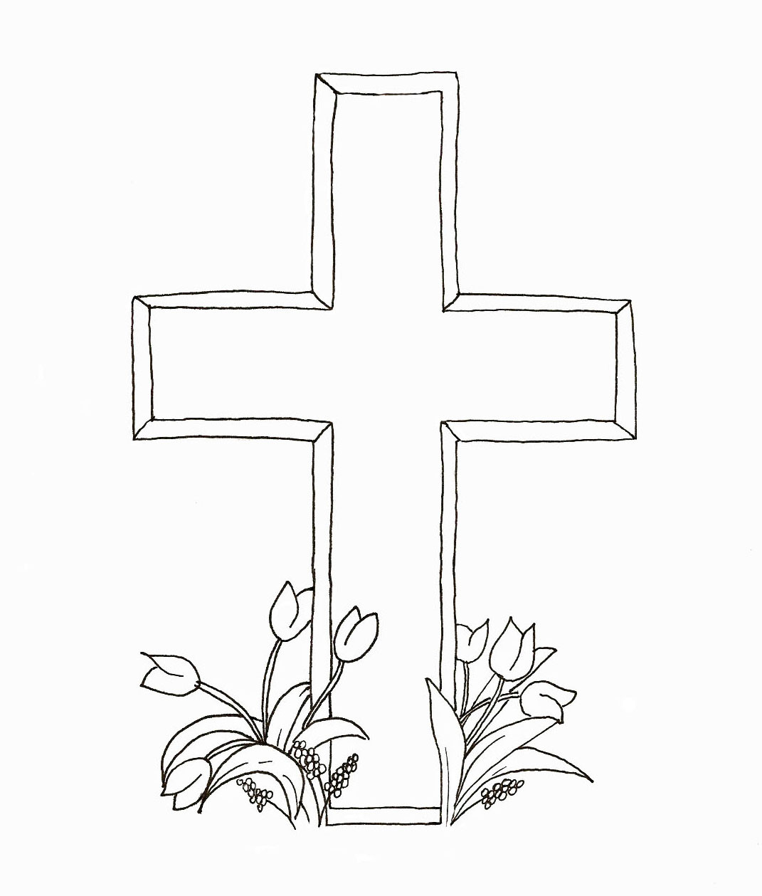 1071x1259 Easter Cross Coloring Pages Printable Merry Christmas And Happy