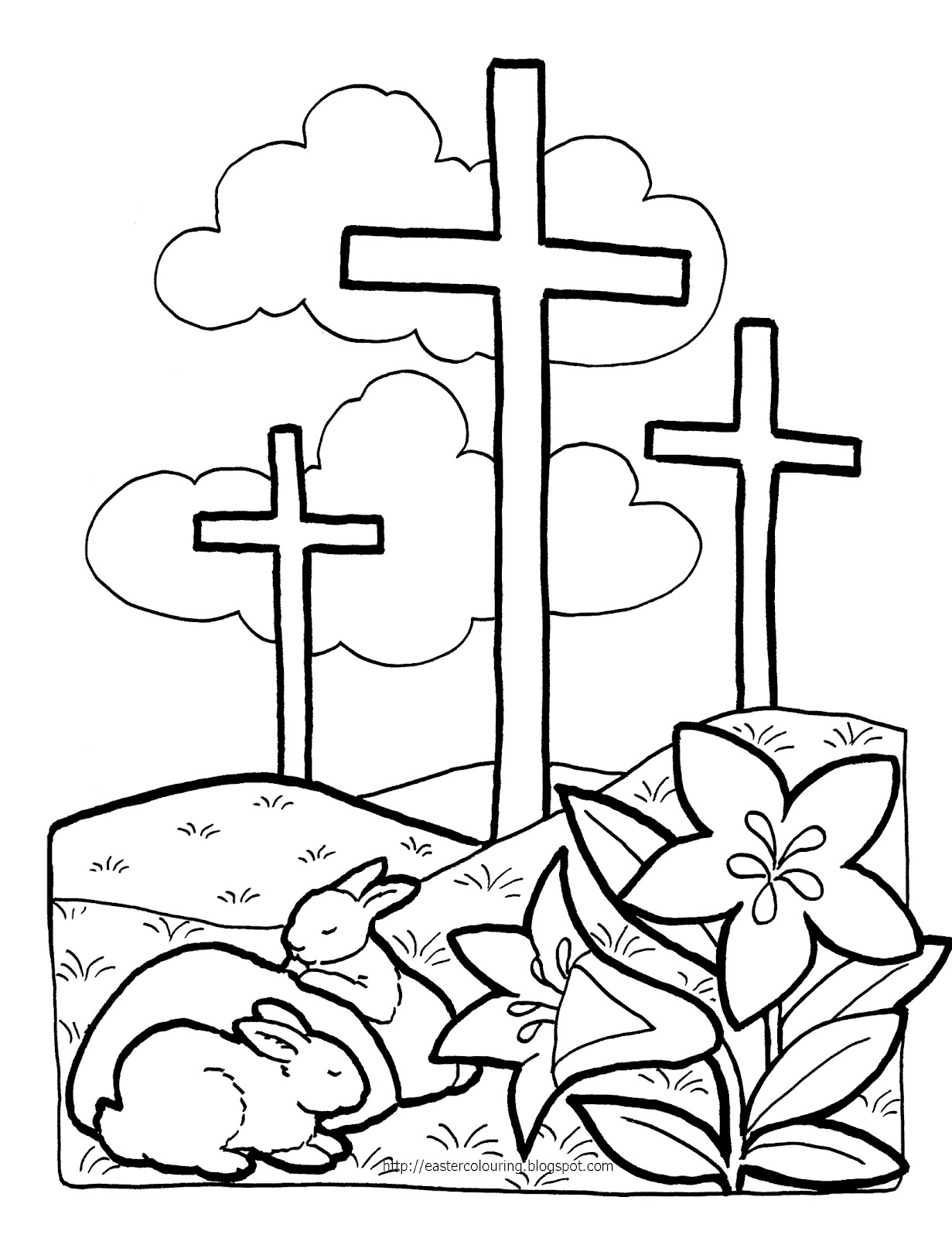 1231x1600 Easter Cross Coloring Pages Religious Page Northern News