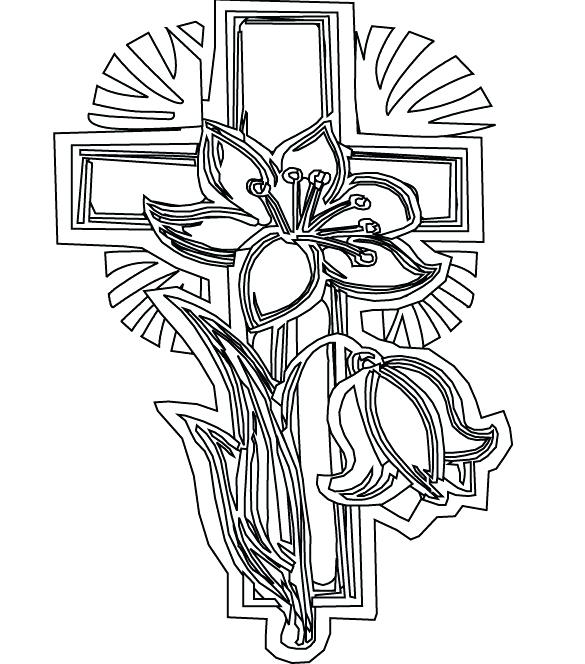 585x664 Printable Cross Coloring Pages School Adult Easter To Print