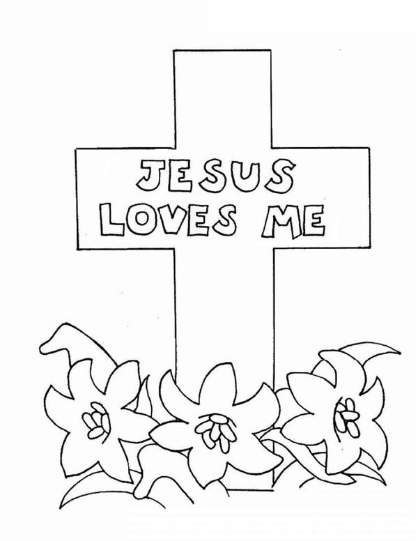 600x776 Easter Cross Coloring Pages Jesus Love Me Cross Coloring Page