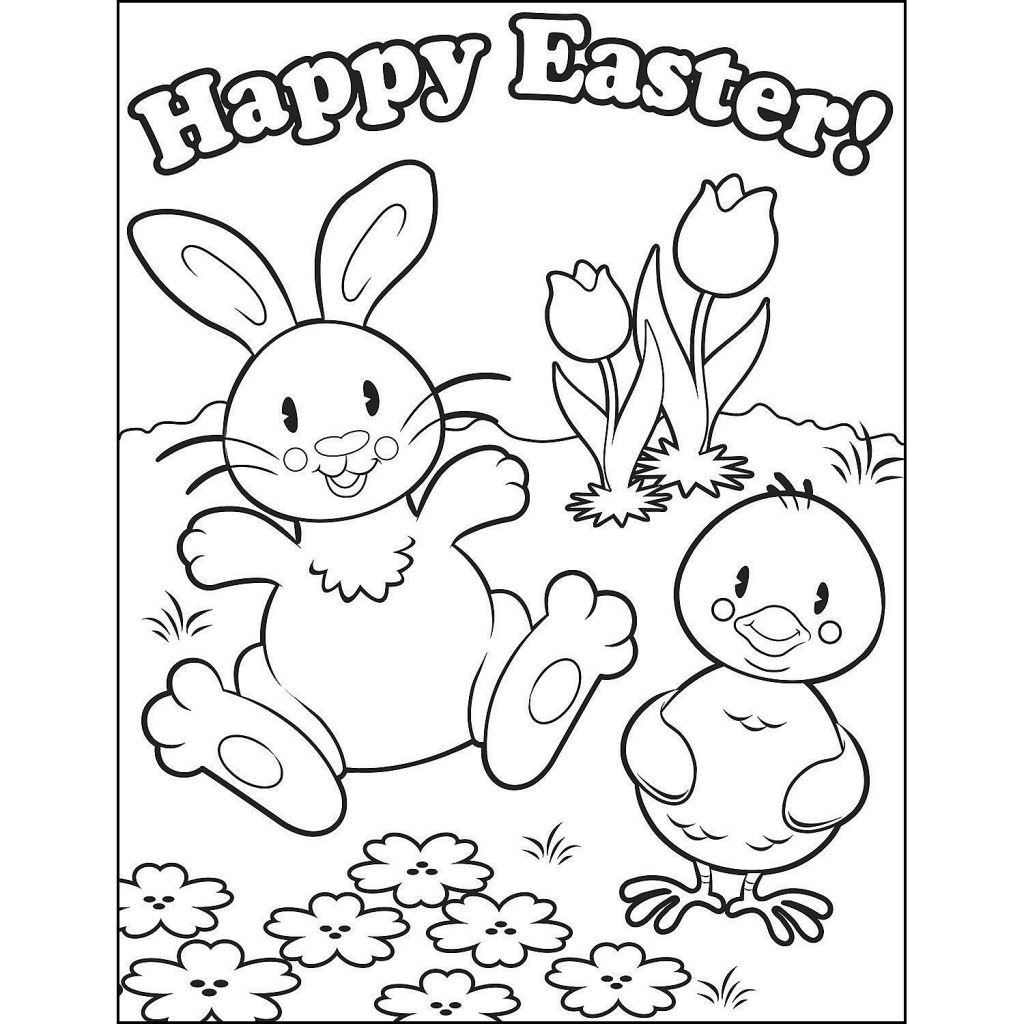 1024x1024 Easter Sunday Coloring Page For Kids And Adults