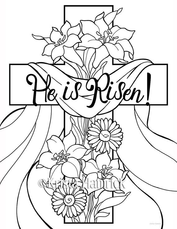 570x738 He Is Risen! Easter Coloring Pages For Children Easter