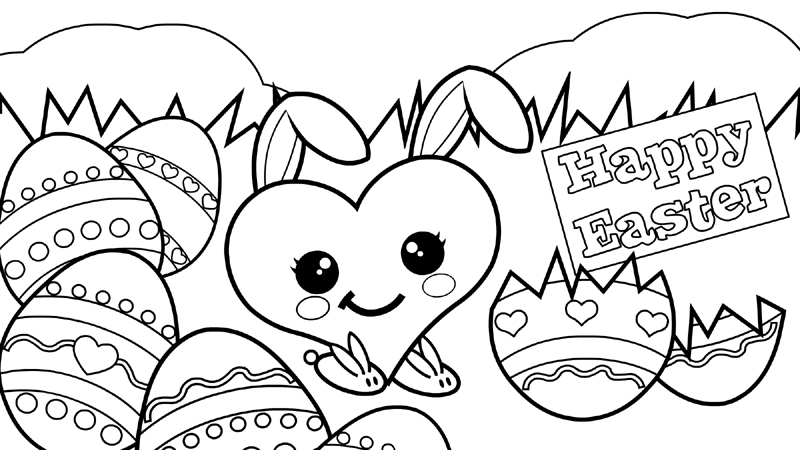 800x450 Printable Easter Sunday Coloring Pages