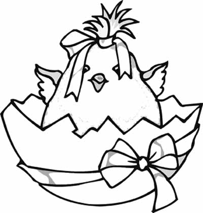 400x419 Original Easter Coloring Pages You Are Going To Color