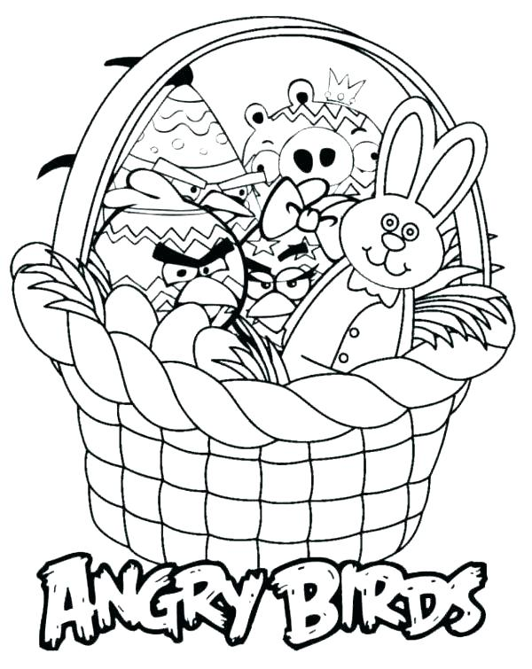 600x755 Easter Basket Coloring Printable Basket Coloring Pages Empty Easy