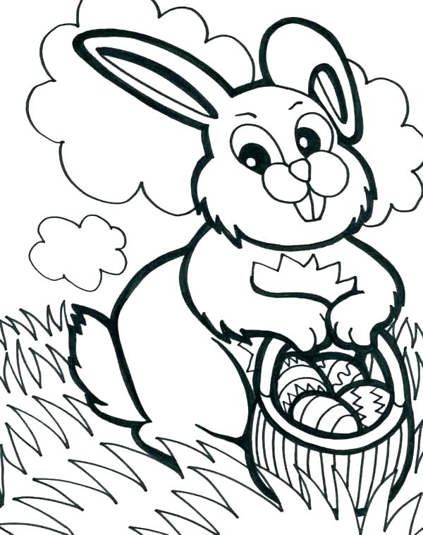 600x758 Easter Egg Coloring Sheets Free Printable Baskets Coloring Pages