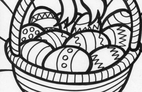 469x304 Easter Egg Basket Coloring Pages Just Colorings