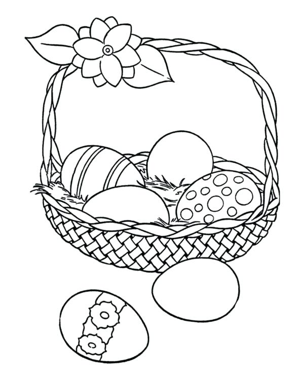 600x734 Creative Basket Coloring Page Batch Coloring Cute Coloring Easter