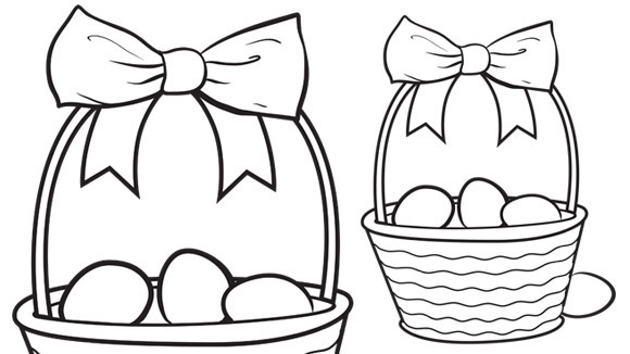 Easter Egg Basket Coloring Pages at GetDrawings.com | Free ...