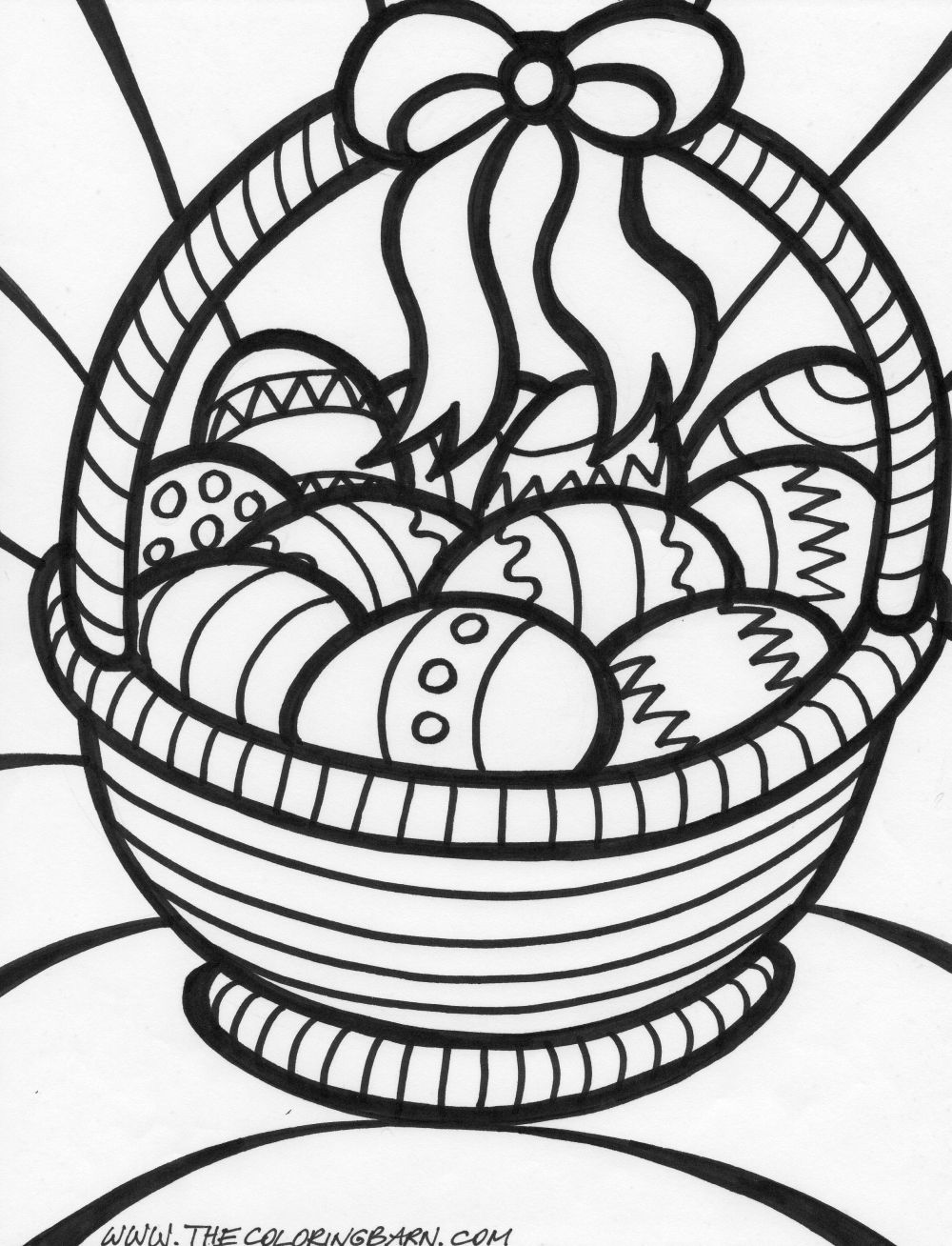 1000x1308 Easter Basket Coloring Page Coloring Book