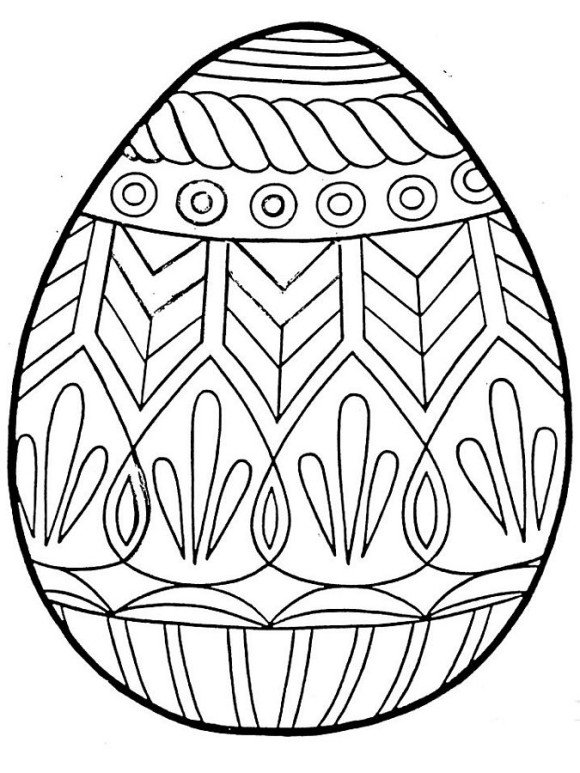 580x773 Easter Egg Coloring Pages Country Victorian Times