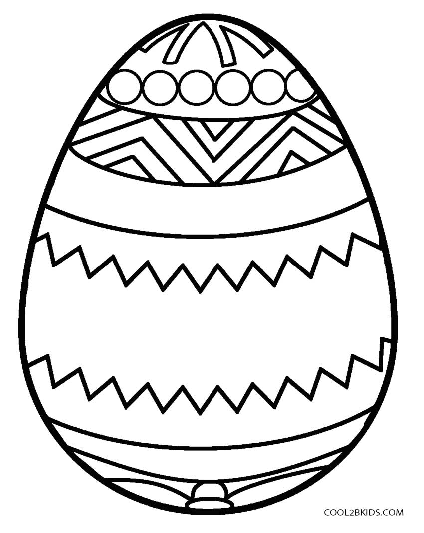 850x1068 Easter Egg Coloring Pages