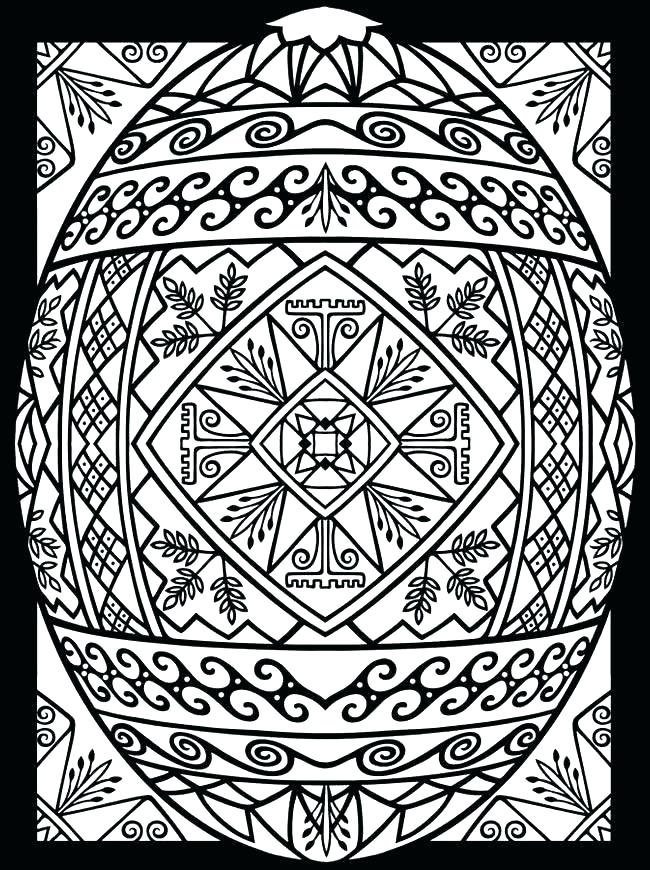 650x870 Easter Egg Coloring Picture Egg Coloring Pages Tribal Design Egg