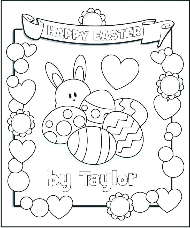 735x880 Easter Egg Coloring Pages Free Printable Book Personalized
