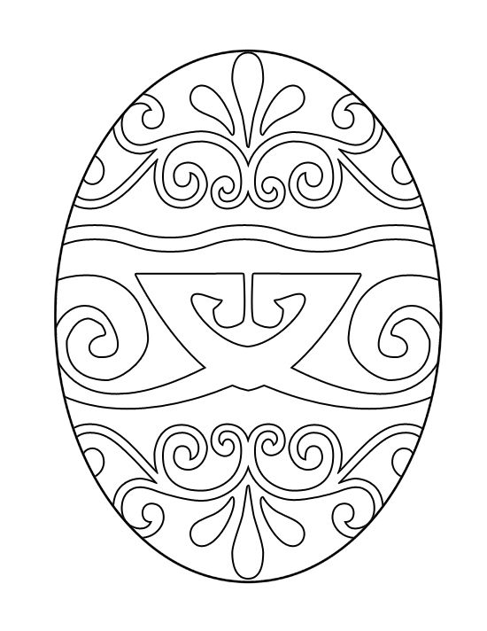 550x712 Free Printable Easter Egg Coloring Pages For Kids Easter