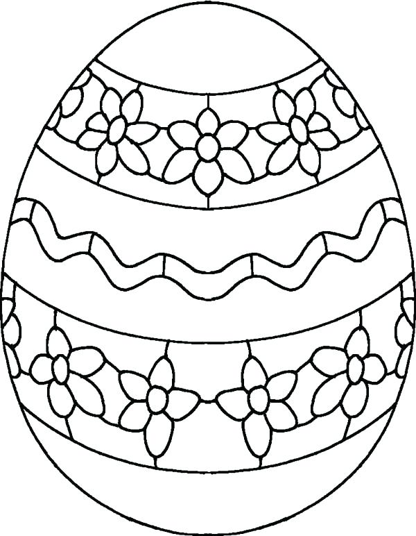 600x772 Easter Egg Coloring Pages