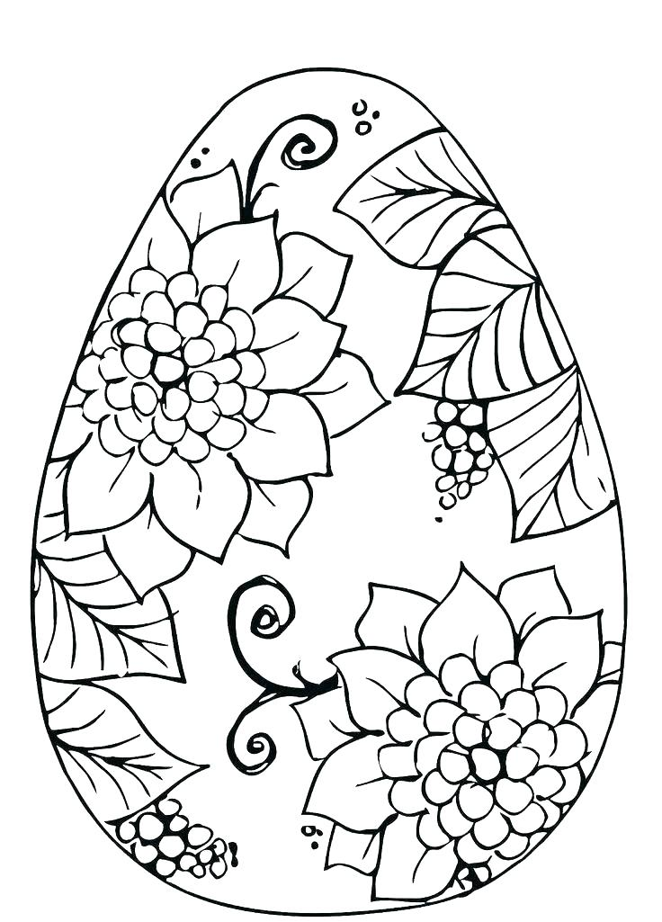 736x1025 Free Easter Egg Coloring Pages Printable