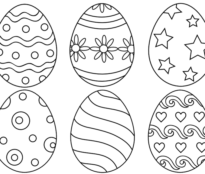 678x576 Easter Egg Colouring Page Easter Egg Designs Coloring Pages Color