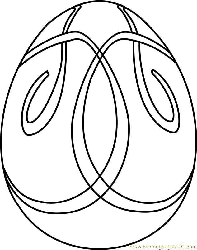 633x800 Easter Egg Design Coloring Page