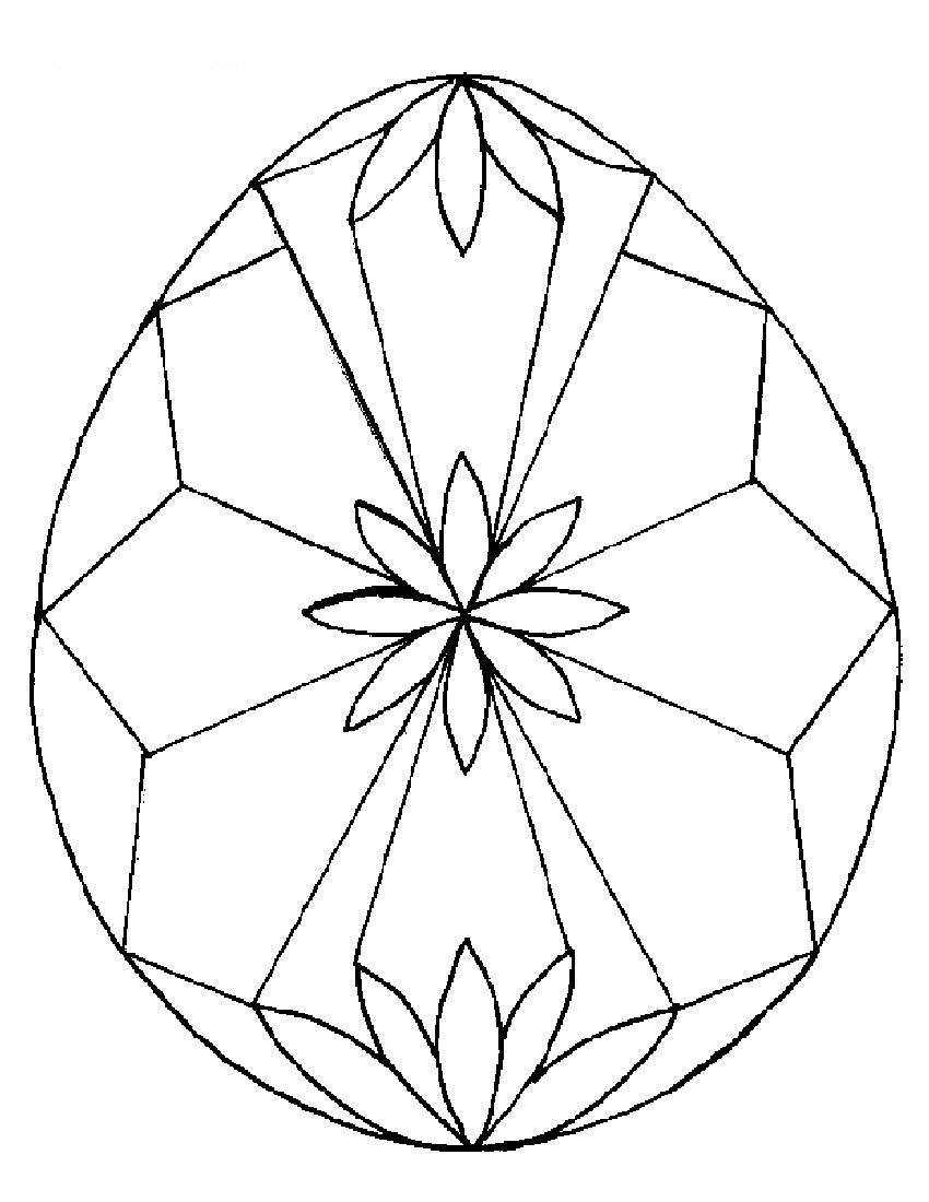 850x1100 Easter Egg Design Coloring Pages