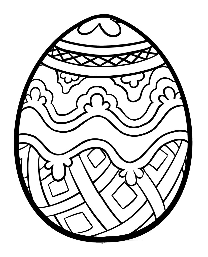 826x1023 Easter Egg Pattern Coloring Page