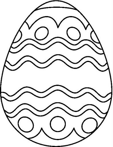 395x512 Egg Coloring Pages