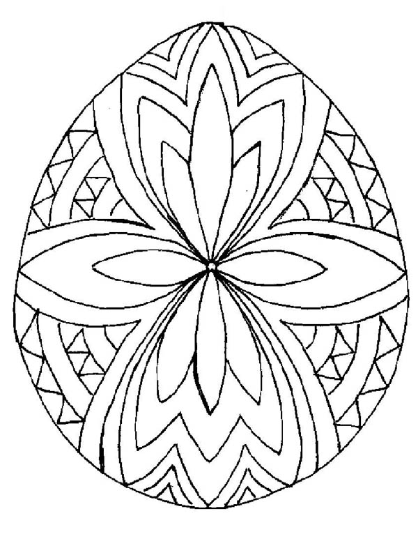 600x776 Beautiful Easter Egg Design Coloring Pages Batch Coloring