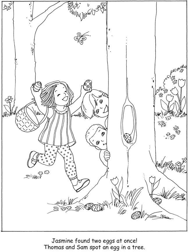650x866 Easter Egg Hunt Coloring Book Dover Publications Seasonal