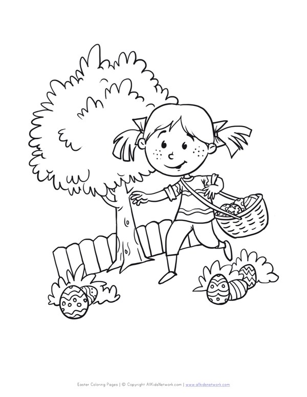 600x776 Easter Egg Hunt Coloring Page All Kids Network