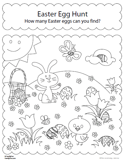 441x571 Easter Egg Hunt Coloring Pages