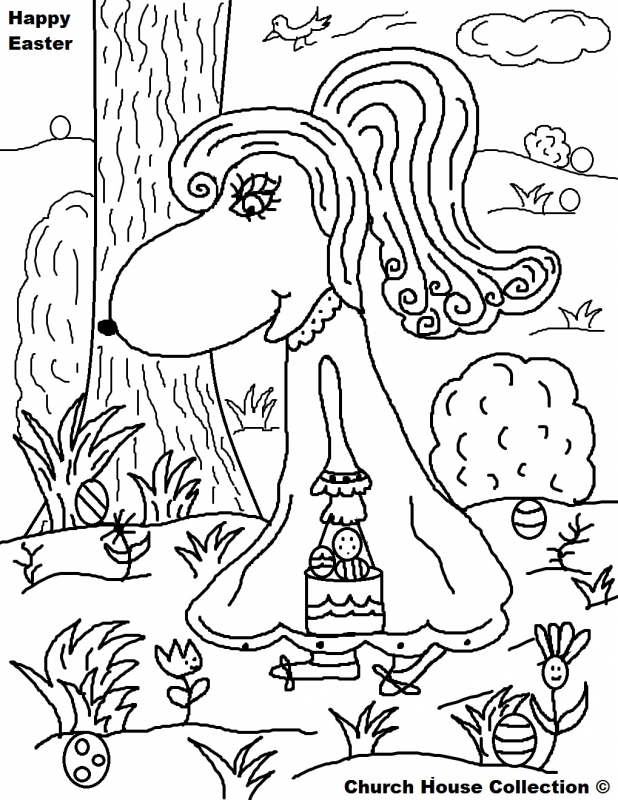 618x800 Easter Egg Hunt Coloring Pages Coloring Pages Kids Collection