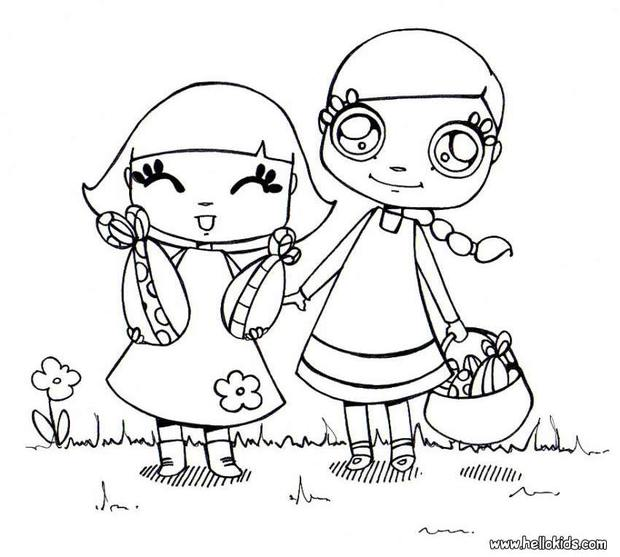 620x557 Easter Egg Hunt Coloring Pages
