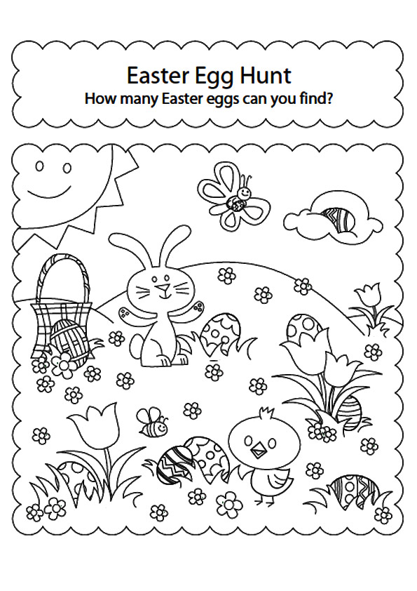 595x842 Free Easter Coloring Pages