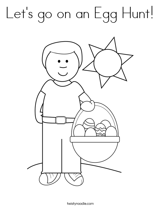 685x886 Let's Go On An Egg Hunt Coloring Page
