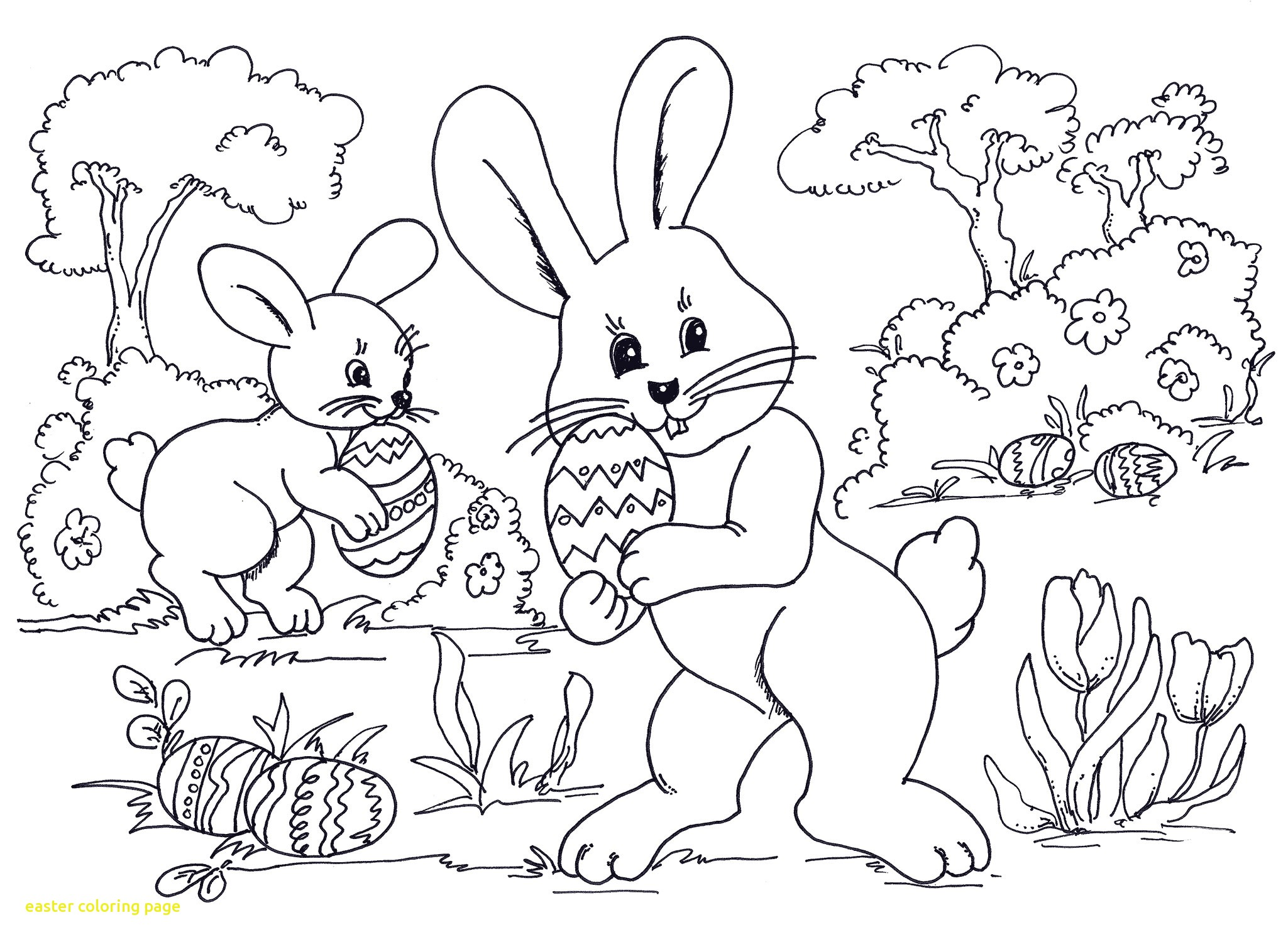 2049x1500 Easter Coloring Page With Easter Coloring Sheets Egg Hunting