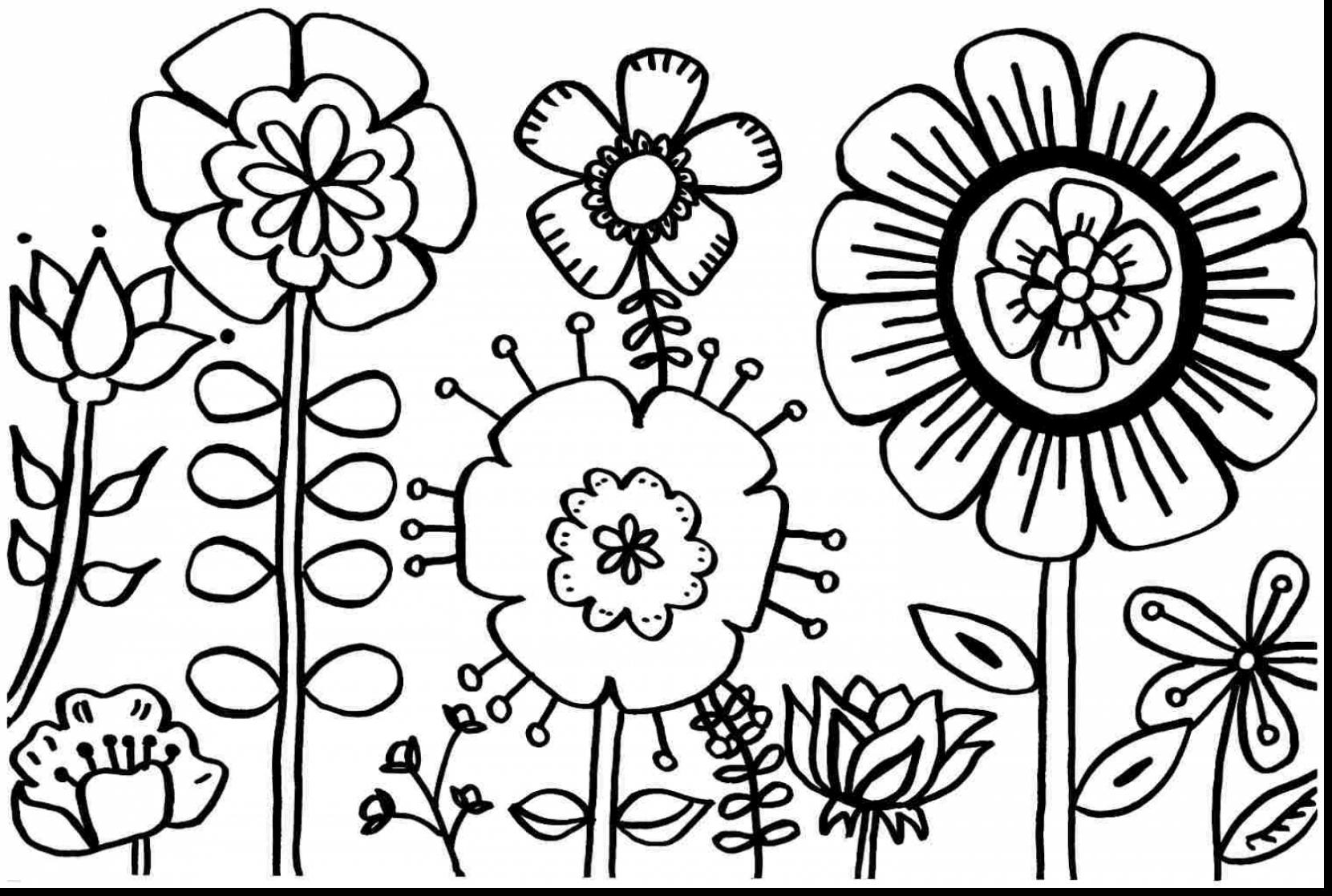 1661x1118 Easter Flower Coloring Pages Spring Flowers Womanmate Com