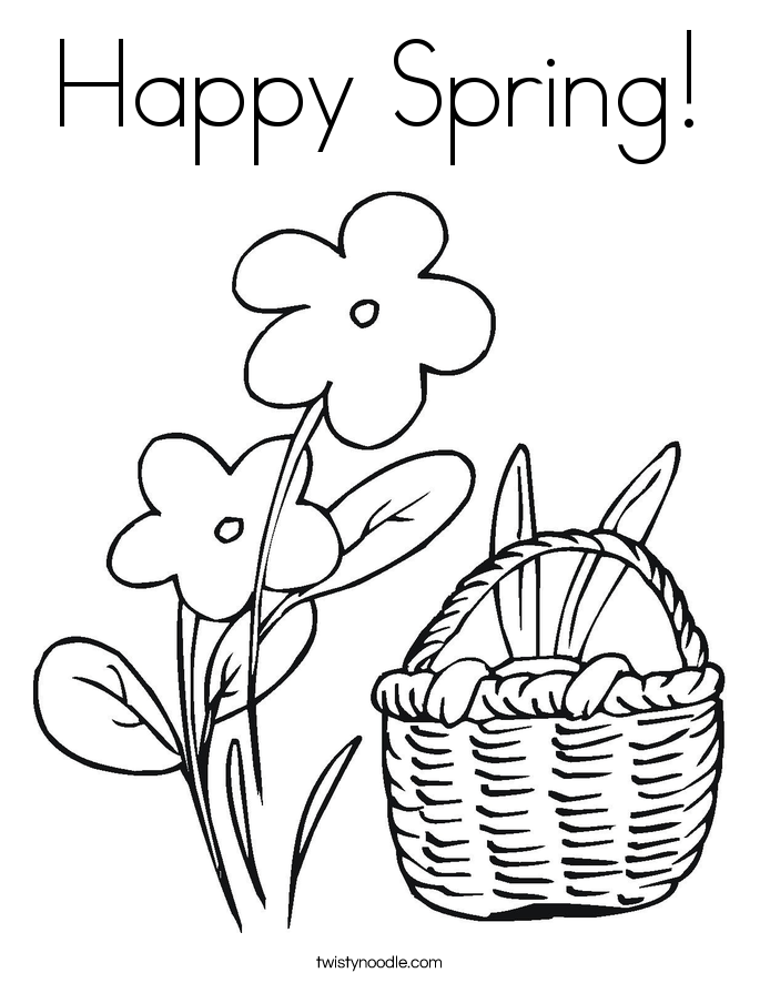 685x886 Easter Flowers Coloring Page