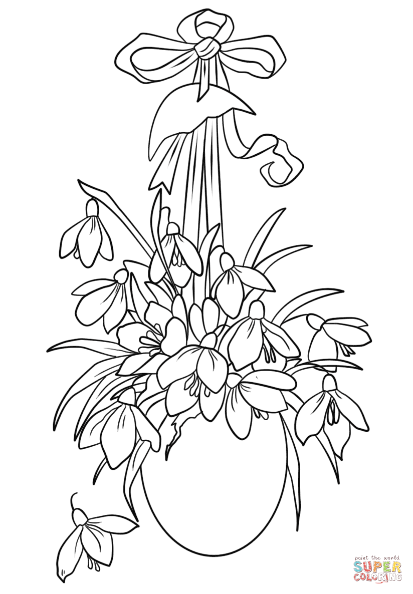 824x1186 Easter Flowers Coloring Page Free Printable Pages For Flower