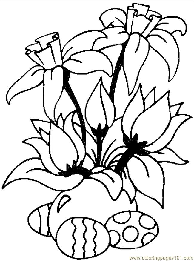 650x874 Easter Flowers Coloring Pages