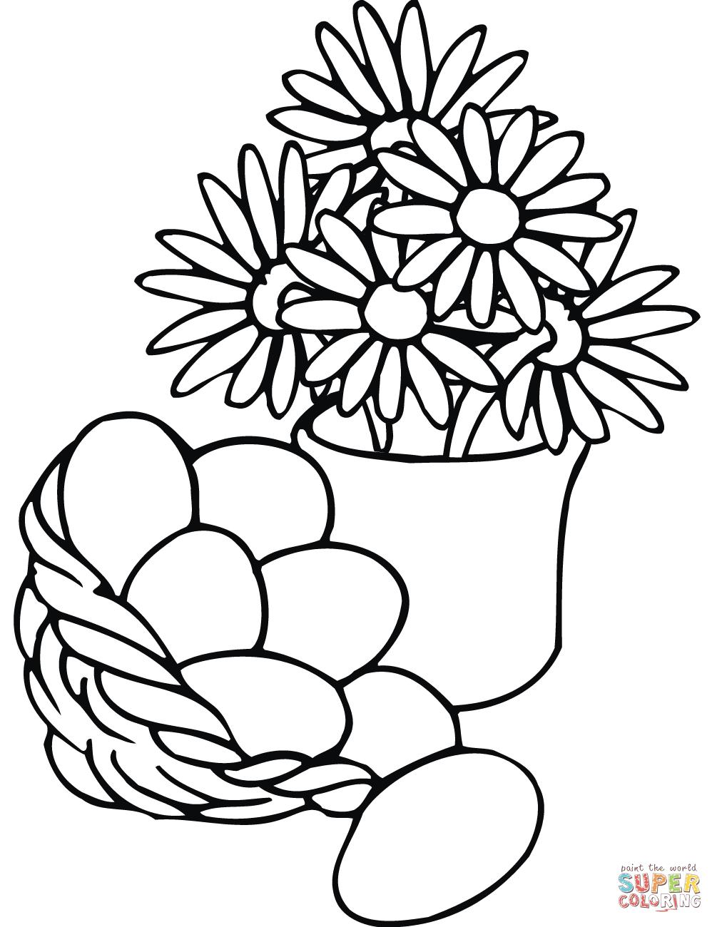 1005x1300 Flowers Coloring Page
