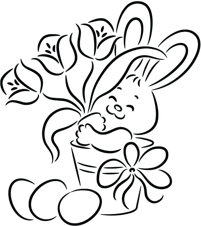 695x783 Easter Flower Coloring Pages Professional