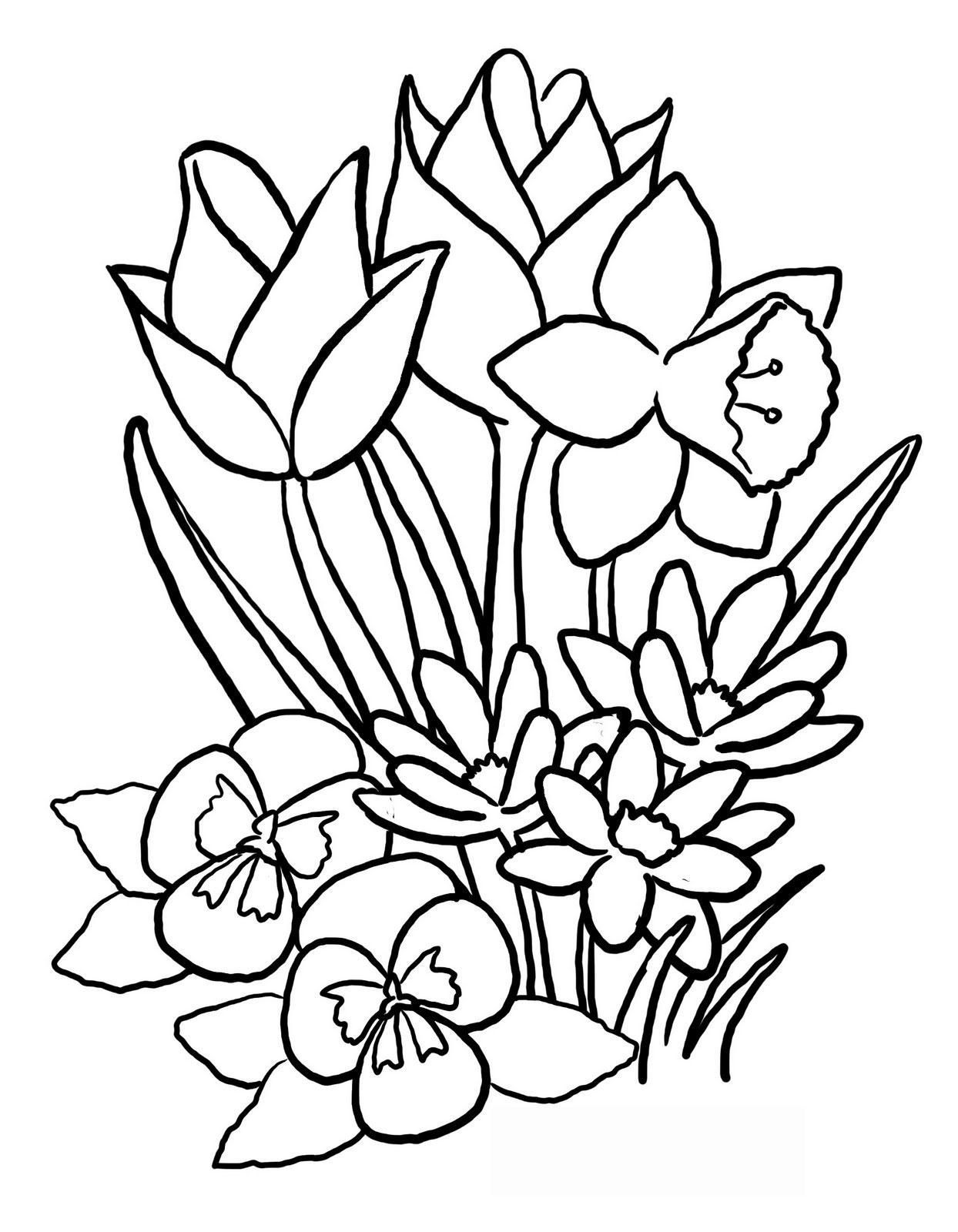 1244x1600 Coloring Pages Easter Flowers Coloring Page Fun