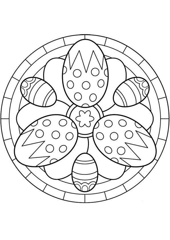 595x841 Mandala De Pasqua Mandala Con Cd Mandala, Easter