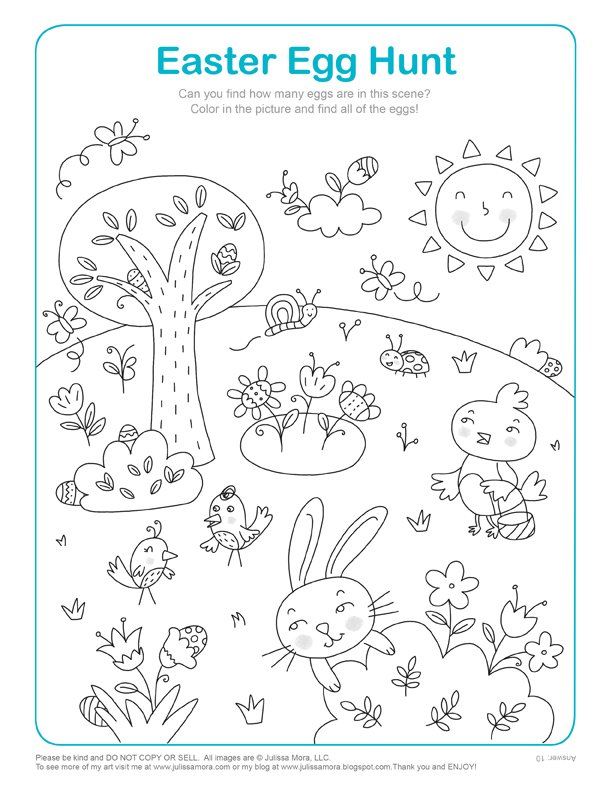 612x792 Easter Egg Hunt Math Activity Ampamp Coloring Page Supplyme