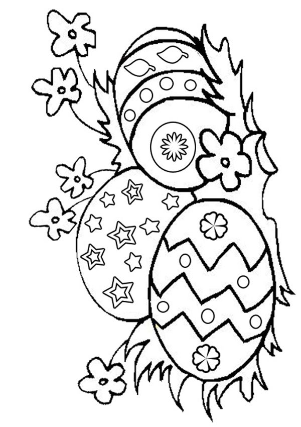 600x850 Free Online Easter Eggs Colouring Page Kids Activity Sheets