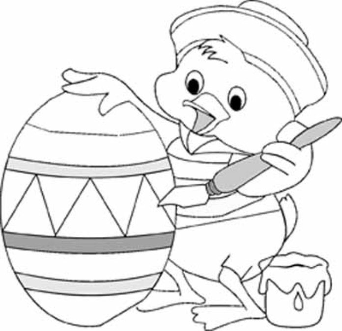 696x675 Print Little Duck Coloring Easter Egg Coloring Pages