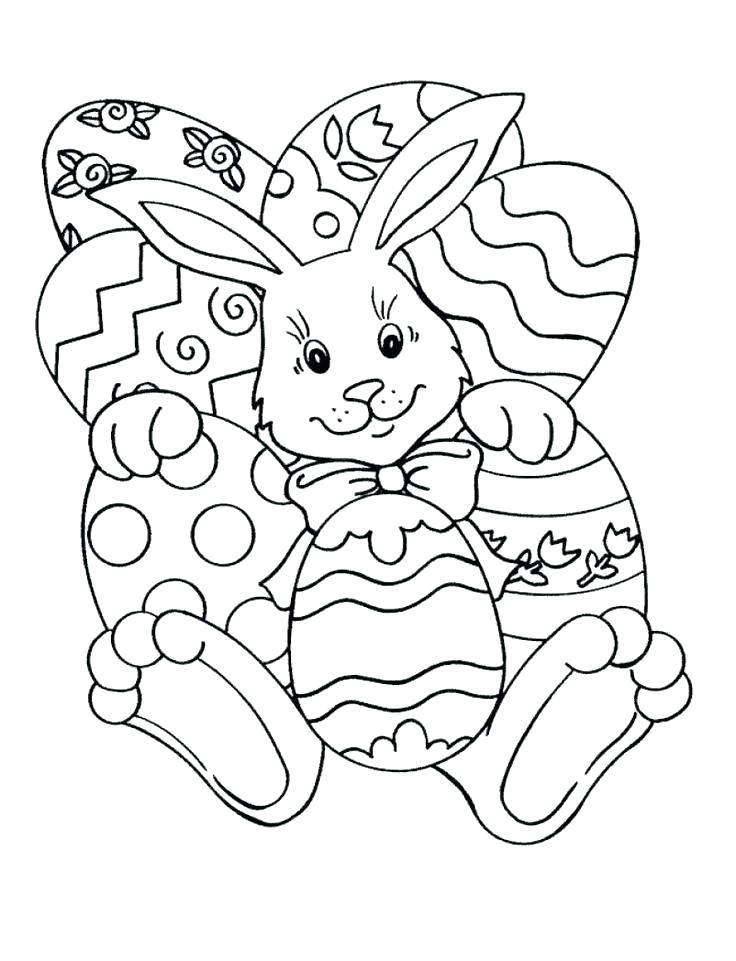 736x961 Easter Bunny Coloring Page For Kids Usedauto Club