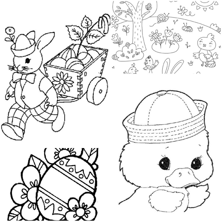 736x736 Easter Peeps Coloring Pages