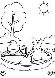 236x333 Marshmallow Peeps Coloring Pages On Coloring Kiddos